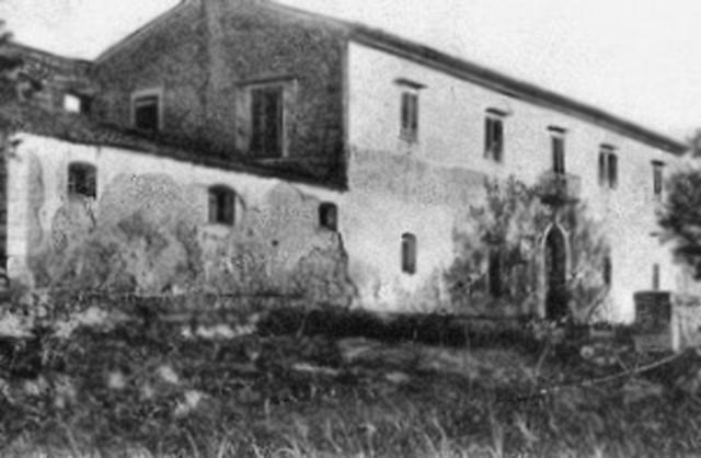 Un'antica foto della Fattoria Micciché che nel 1862 ospitò Giuseppe Garibaldi - ph Foto milocca.wordpress.com