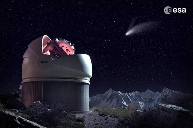 Il telescopio FlyEye dell'Esa