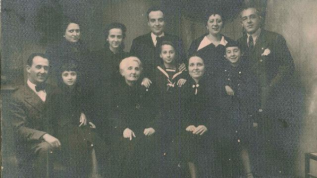 Una foto storica della famiglia Pellegrino