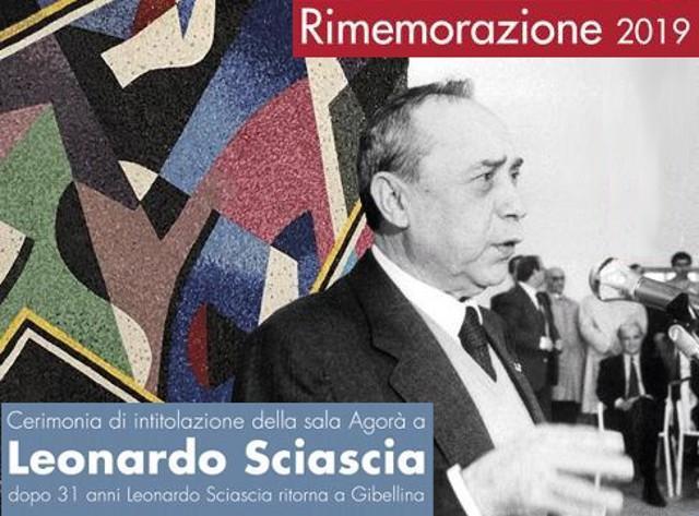 Il 15 gennaio a Gibellina si terrà (alle ore 16,00) la cerimonia di intitolazione della sala Agorà allo scrittore Leonardo Sciascia