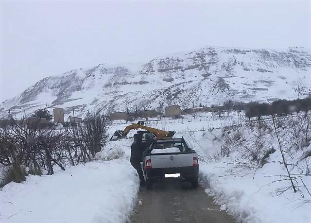 I problemi maggiori causati dalle abbondanti nevicate sono stati registrati nella Sicilia centrale
