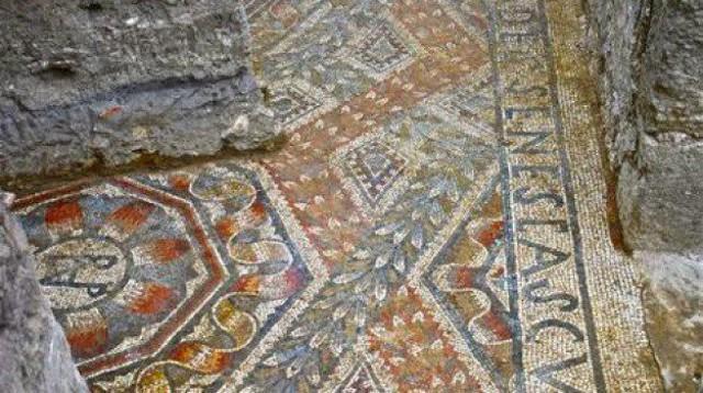 Pavimento musivo della Villa romana di contrada Gerace, in provincia di Enna