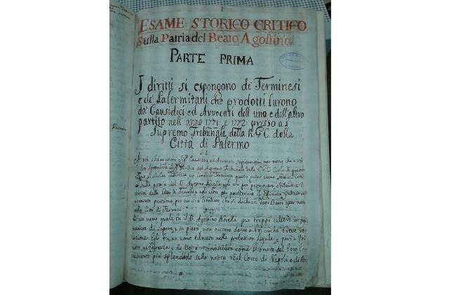 Una pagina da un manoscritto autografo del Ciprì