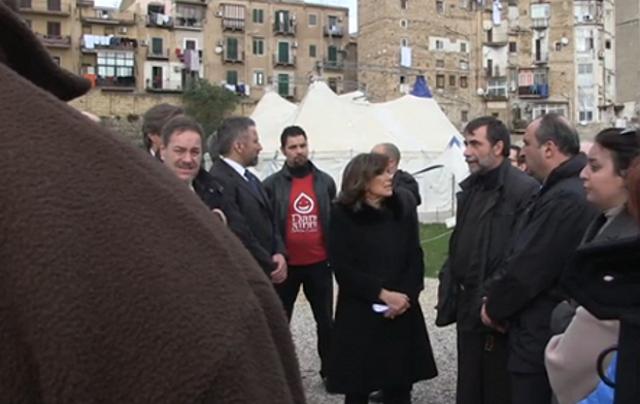 La presidente del Senato Maria Elisabetta Alberti Casellati, in visita al quartiere Danisinni di Palermo