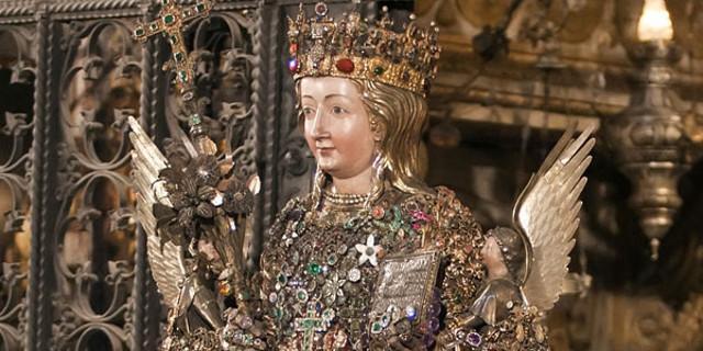 Il busto reliquiario di sant'Agata, opera del senese Giovanni di Bartolo del 1376