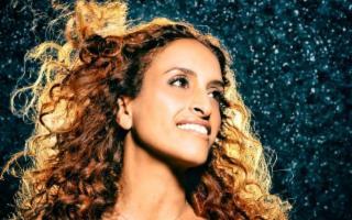 La cantante israeliana Noa alla Villa del Casale