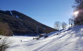 Nevica a Piano Battaglia, ma gli impianti sono chiusi