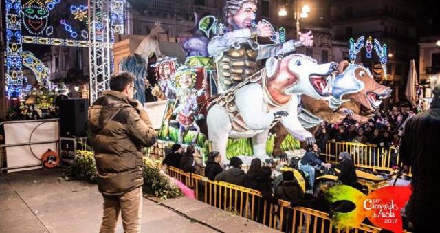 Sfilata dei carri del Carnevale di Avola 2017