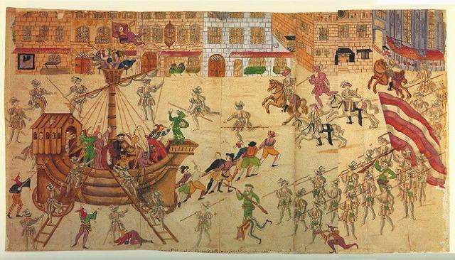 """C'è chi dice che Carnevale derivi da """"carrus navalis"""", il rito della nave sacra portata in processione su un carro..."""