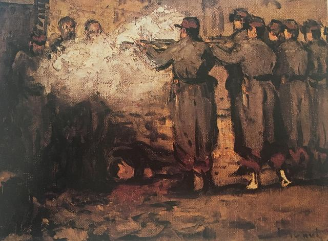 """La barricade"" Edouard Manet"