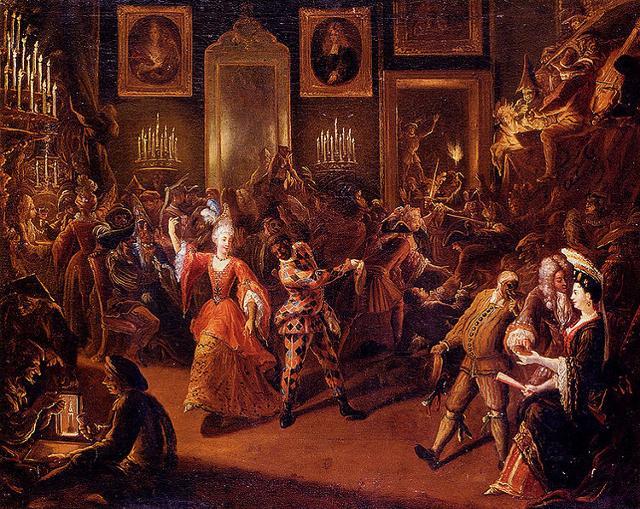 """""""La festa di Carnevale"""", Pierre Bergaigne (1652-1708)"""