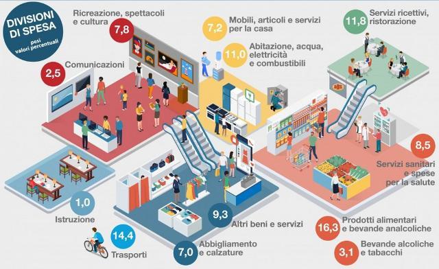 Infografica Paniere Istat 2019