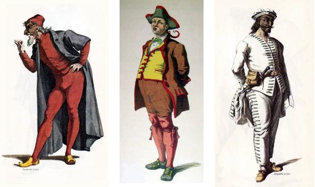 Pantalone (Venezia), Gianduja (Piemonte), Brighella (Bergamo)