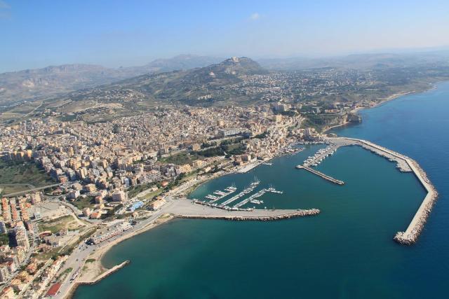 Fotografia aerea di Sciacca