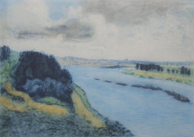 """Pierre-Auguste Renoir """"Bateaux sur la Seine"""""""