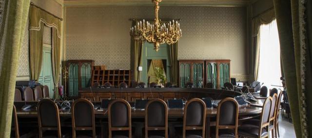 Una sala riunioni all'interno del palazzo Reale di Palermo, sede dell'Assemblea Regionale Siciliana