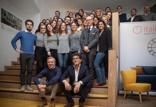 Il team di Italianway. In basso Scarantino (a sinistra) e Celani