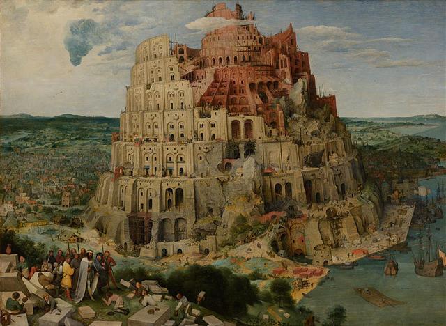 """""""La Torre di Babele"""" di Pieter Brueghel il Vecchio"""