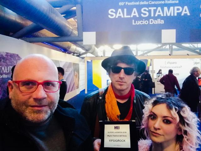 Nella foto da sinistra:  Vincenzo Barreca (fondatore & direttore artistico Ypsigrock Festival), Gianfranco Raimondo (fondatore & direttore artistico Ypsigrock Festival) e Marcella Campo (direttore creativo Ypsigrock Festival)