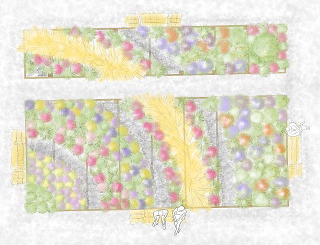"""""""Arcobaleno di spighe"""", ideato dal gruppo """"Colori nel Verde Garden design"""""""