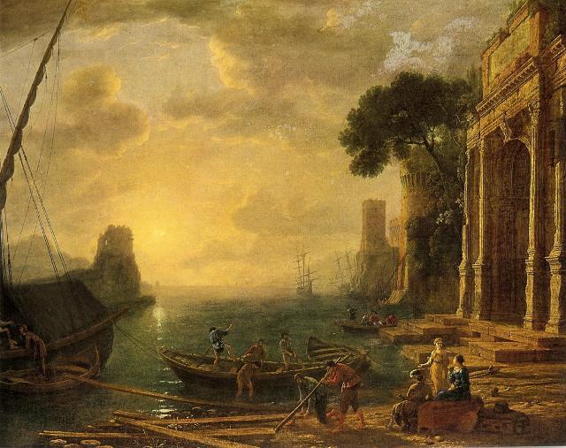 L'arrivo di Ulisse al palazzo di Alcinoo, opera di Claude Lorrain