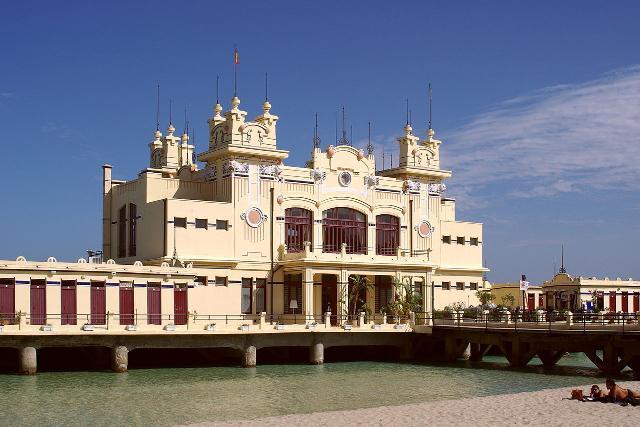 Lo storico stabilimento liberty a Mondello, Palermo - ph Berthold Werner