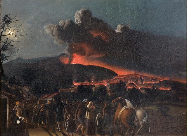 L'eruzione dell'Etna del 1852 in un dipinto di G. Sciuti
