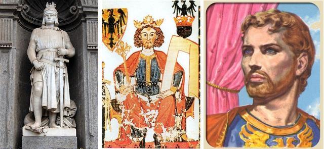 Tre rappresentazioni di Federico II di Svevia