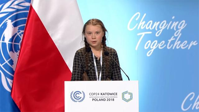 Greta Thunberg al Cop 24 di Katowice, Polonia - 2018