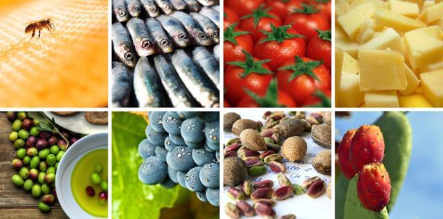 Alcuni prodotti agroalimentari siciliani