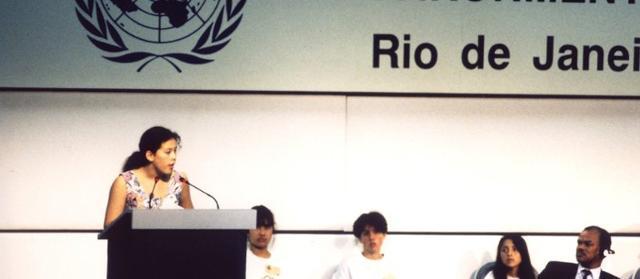 Severn Cullis Suzuki parla all'ONU - 1992