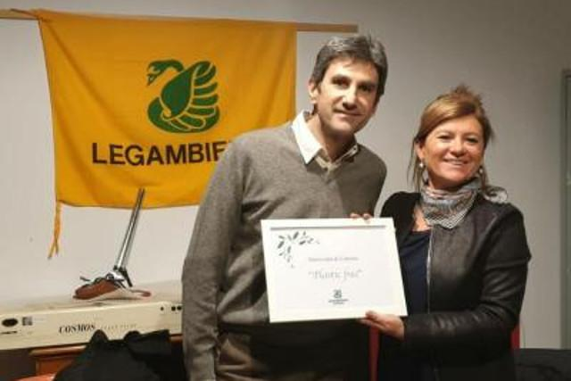 Tino Pappalardo, Energy Manager dell'Università e Viola Sorbello, presidente etnea di Legambiente