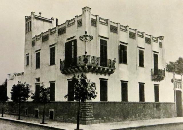 Foto storica della Villa Ida Basile - ph www.italialiberty.it