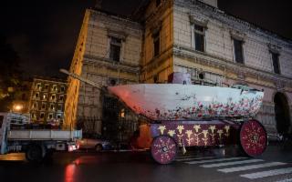 Il Carro Trionfale della Santuzza è arrivato all'Ucciardone