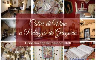 Calici di Vino a Palazzo de Gregorio
