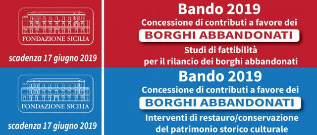 Bandi Borghi Abbandonati  - Fondazione Sicilia