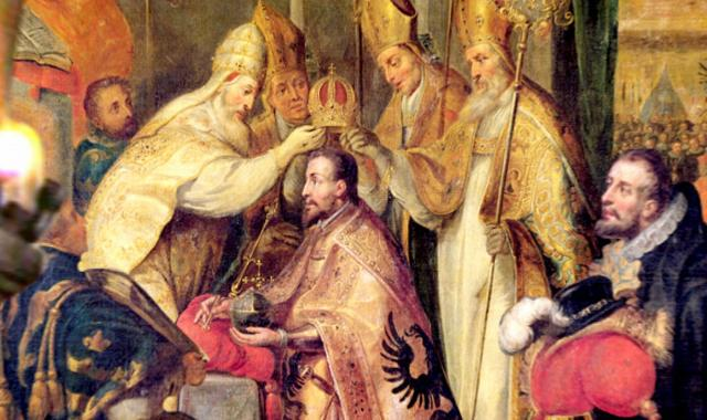 Federico II di Svevia incoronato Imperatore del Sacro Romano Impero da Papa Onorio III