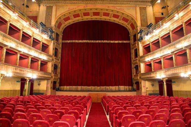 La platea del Teatro Biondo di Palermo