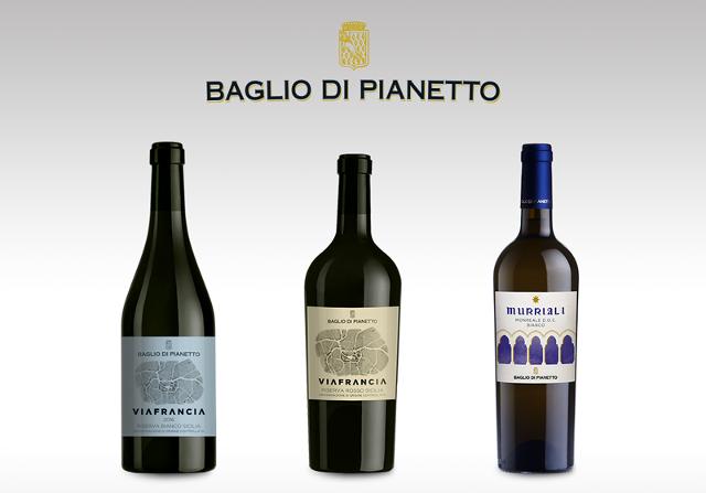 Tre etichette Baglio di Pianetto