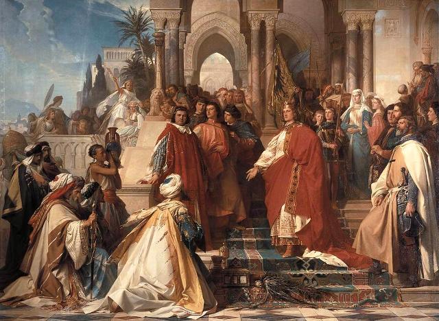 La corte dell'Imperatore Federico II nel Castello di Maredolce a Palermo