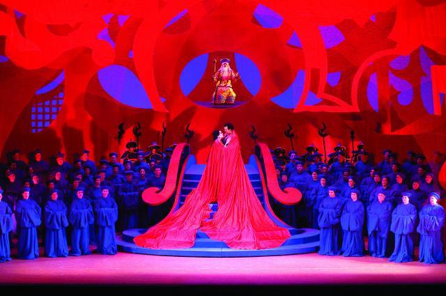 Scenografia di David Hockney per la Turandot