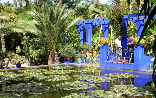 Uno scorcio dei Giardini Majorelle, a Marrakech, dei quali Madison Cox è responsabile