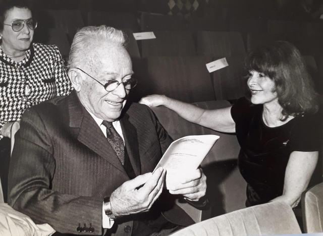 Giulio Einaudi e Domitilla Alessi, La Rosa d'Oro 1988