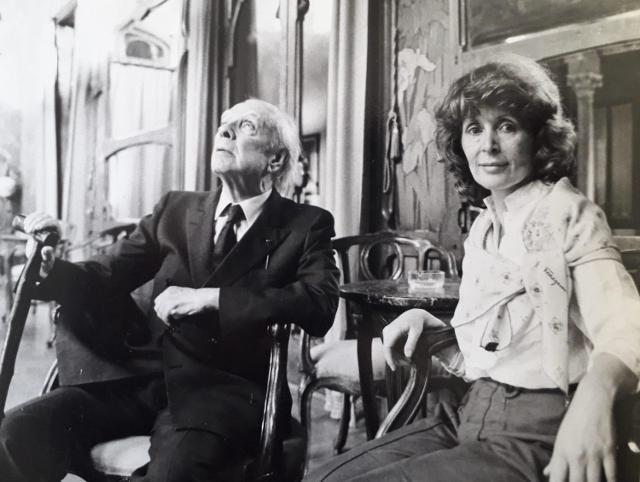 Jorge Luis Borges e Domitilla Alessi a Palermo, La Rosa d'Oro 1984