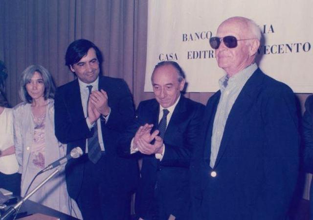 Maria Gotama, Leoluca Orlando, Henri Cartier Bresson a La Rosa d'oro 1986