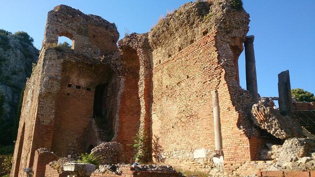 Particolare della struttura del Teatro Antico di Taormina