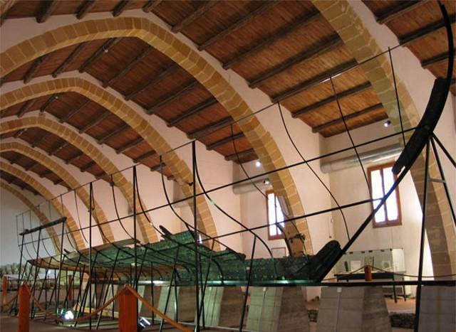 I resti della Nave Punica esposti al Museo Archeologico Regionale Lilibeo di Marsala
