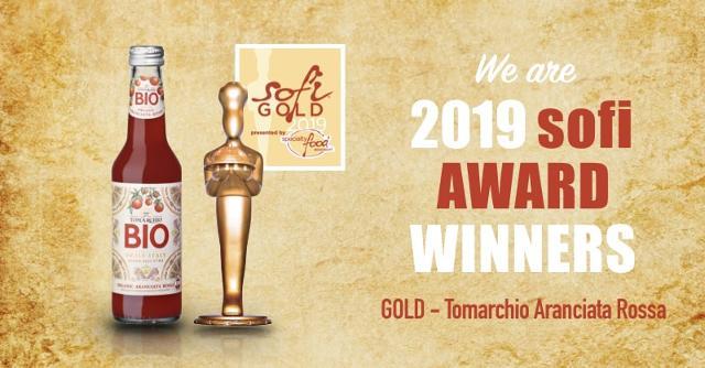 L'Aranciata Rossa BIO IGP di Tomarchio ha vinto l'Oscar internazionale del cibo