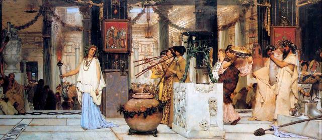 The Vintage Festival, dipinto di Lawrence Alma-Tadema (1870)