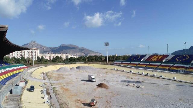 I lavori per rimettere a nuovo lo storico Velodromo Paolo Borsellino di Palermo